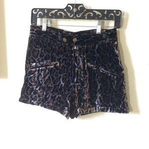 LF Shorts - Velvet Leopard Mini Shorts Simone by Katie Nehra